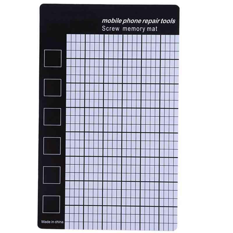 Magnetic Screw Mat Phone Tablet Repair Tools, Storage Memory Chart Working Pad