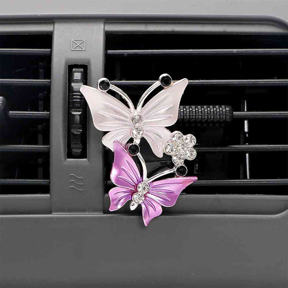 Air Freshener, Butterfly Car Perfume, Natural Outlet Clip, Fragrance Accessories