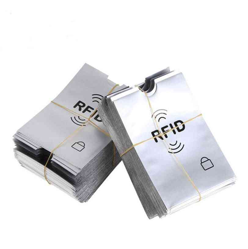 Anti-scan Sleeve & Anti-magnetic, Aluminum Foil, Bank Card Holder
