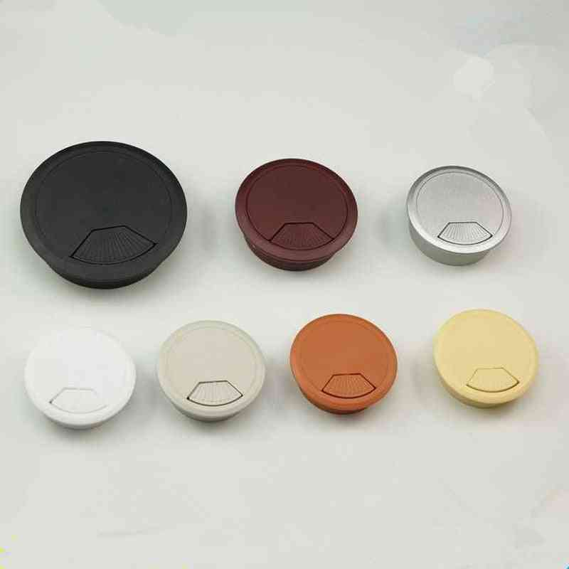 High Quality Abs Computer Desk Table Grommet Cable Port Wire Hole Cover