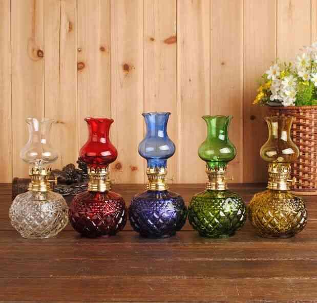Classic Glass Kerosene Lamp Vintage Oil Lights
