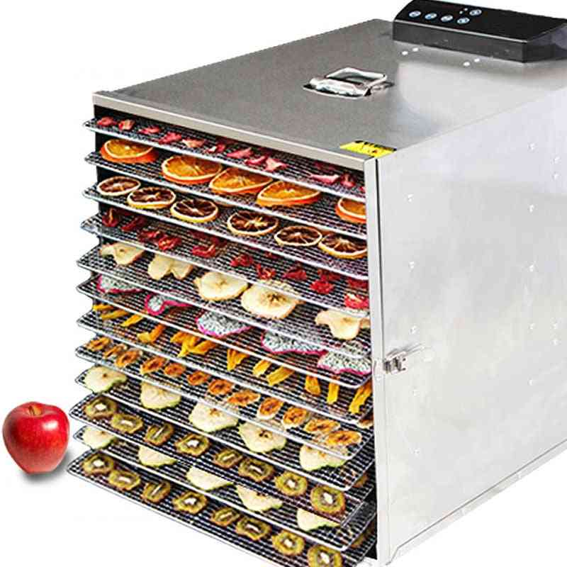 12-layers, Stainless Steel- Fruit Dehydrator, Dryer Food Timing, Drying Machine