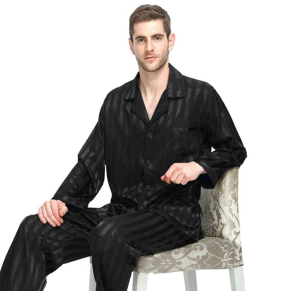 Mens Silk Satin Pajamas Set, Sleepwear/loungewear