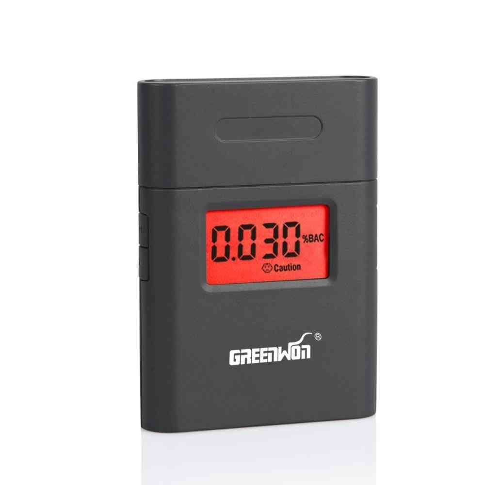 360-degree Rotating, Mouthpiece Red Backlight, Accurate Breath, Alcohol Tester  (black)