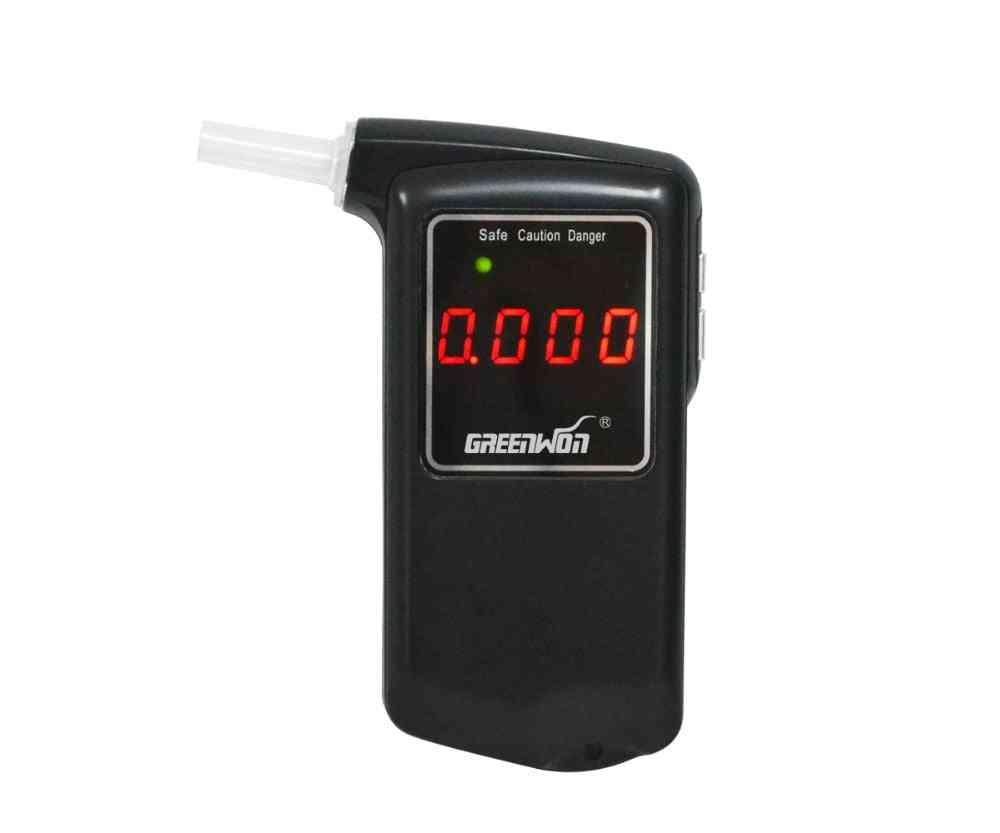 Digital Lcd, Breathalyzer Detector, Breath Alcohol Tester With Backlight (black)