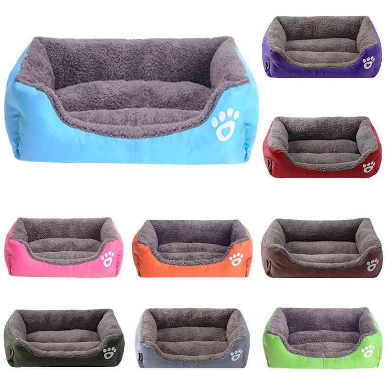 Autumn Winter- Warm Cozy Soft Fleece, Nest Baskets, Mat Dog House
