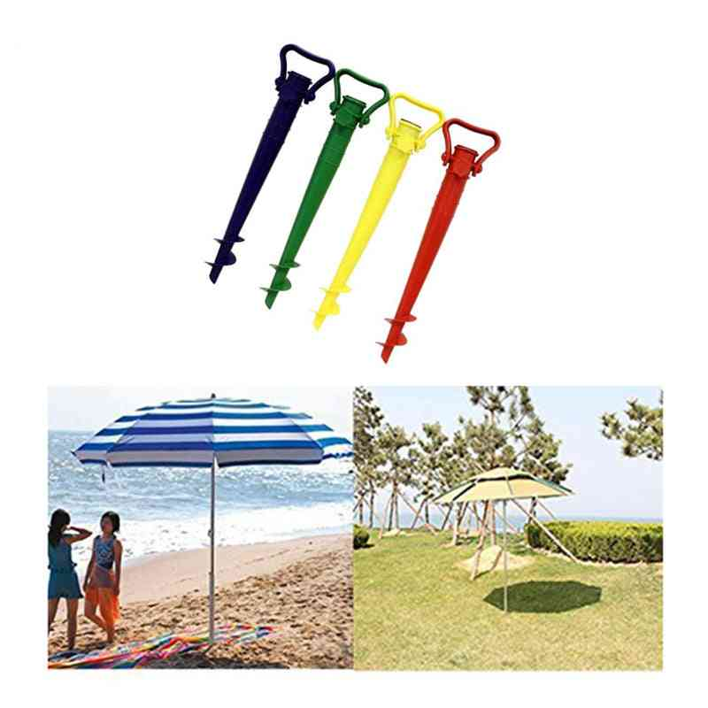 Umbrella Base Screw In Parasol Base Ground Anchor & Spike Stand