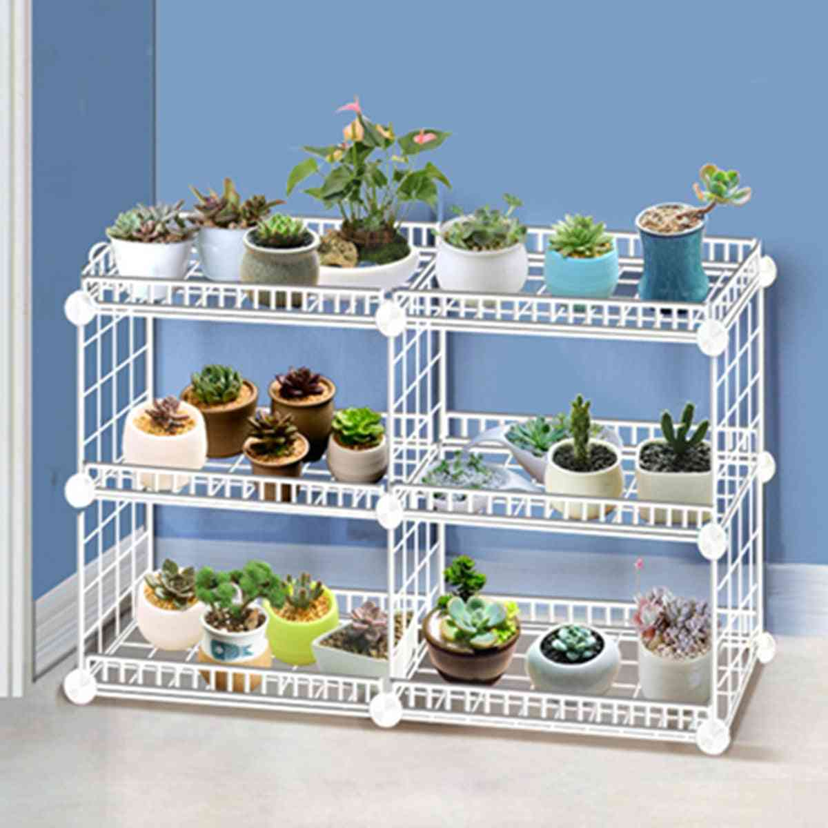 Multi-layer Plant Stand With Four Sides Of Fence Rack