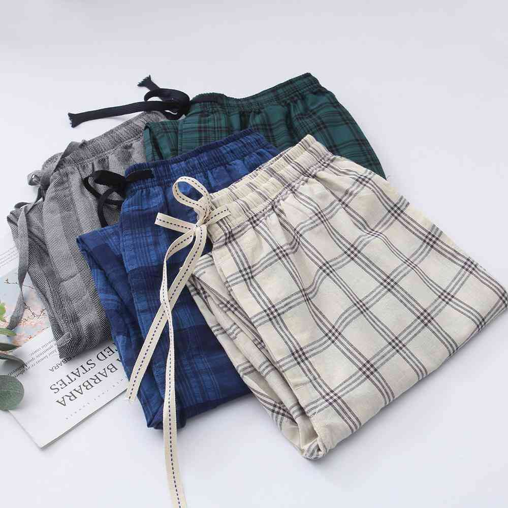 Men's Plaid Pajama Trousers, Sleepwear Pants