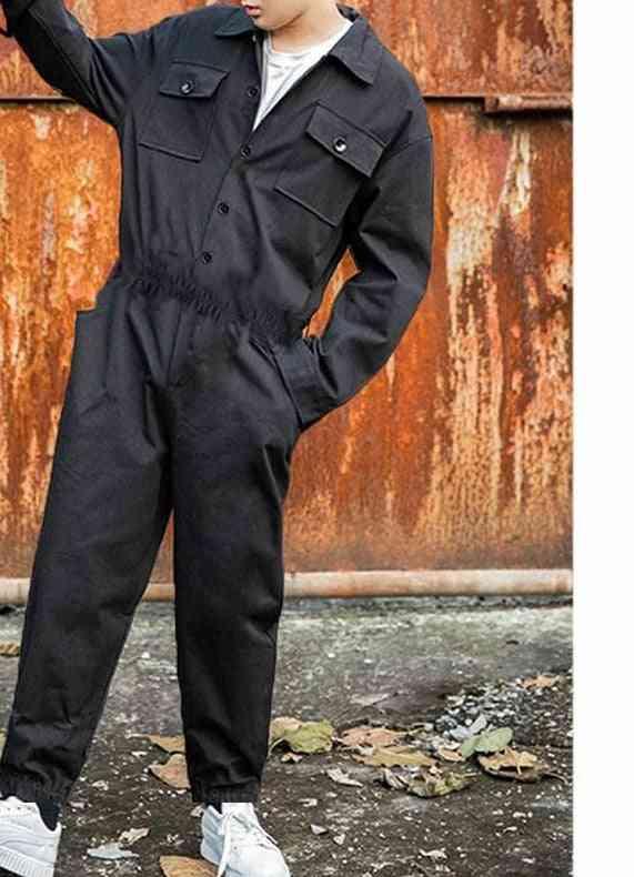 Cargo Overalls Punk Style Hip-hop Pockets Pant, Rompers, Men Jumpsuit