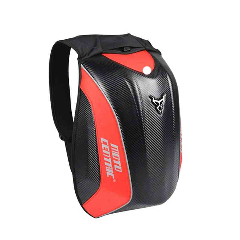 Motorcycle Backpack, Carbon Fiber Racing Riding Helmet Bag
