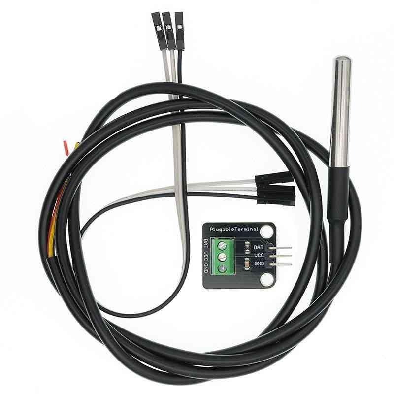 Sensor Module Kit Waterproof Digital Cable, Stainless Steel Probe Terminal Adapter For Arduino