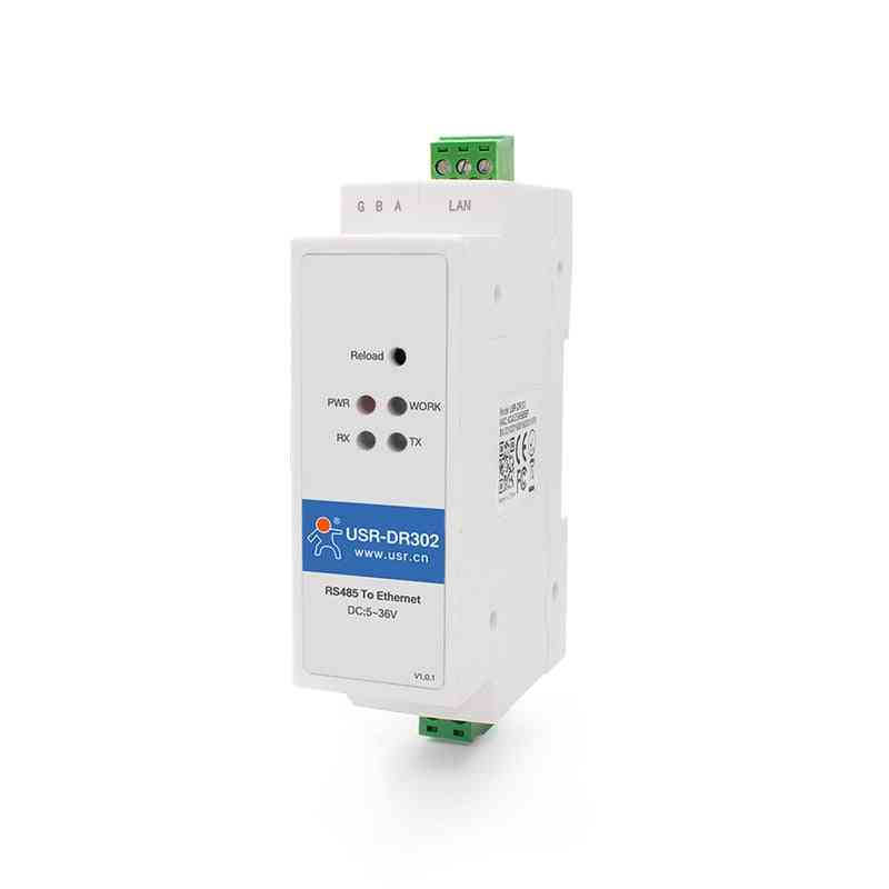 Din Rail Serial Rs485 To Ethernet Tcp Ip Server Module Converter