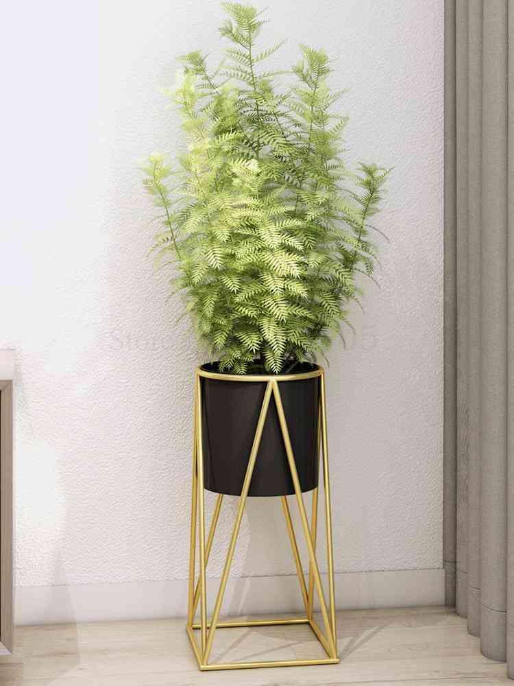 European Style- Simple Wrought, Iron Flower Shelf, Indoor Stand Rack