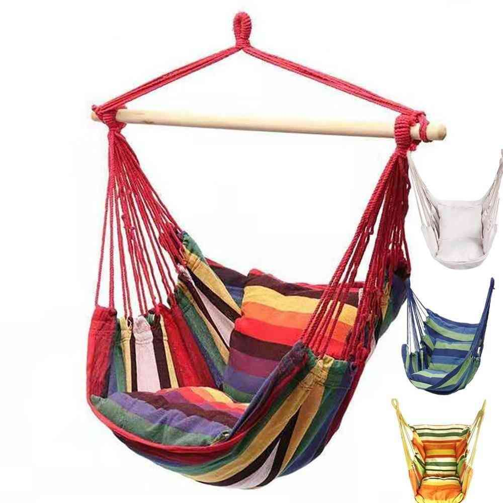 Portable Hammock Canvas Bed, Hanging Leisure, Rope Chair Swing
