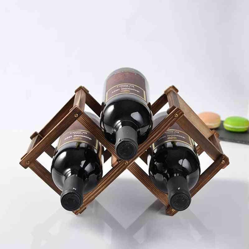 Wooden Bottle Rack Holder