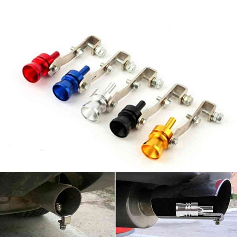 Universal Car Turbo Sound Whistle Muffler Exhaust Pipe Auto Blow-off Valve (silver)