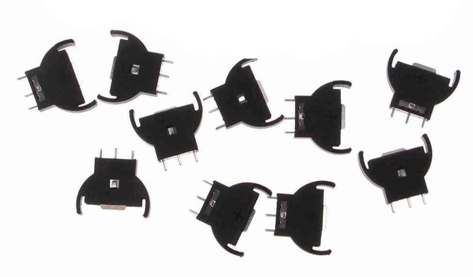 Plastic Shell, Button Cell Battery Sockets Holder Case