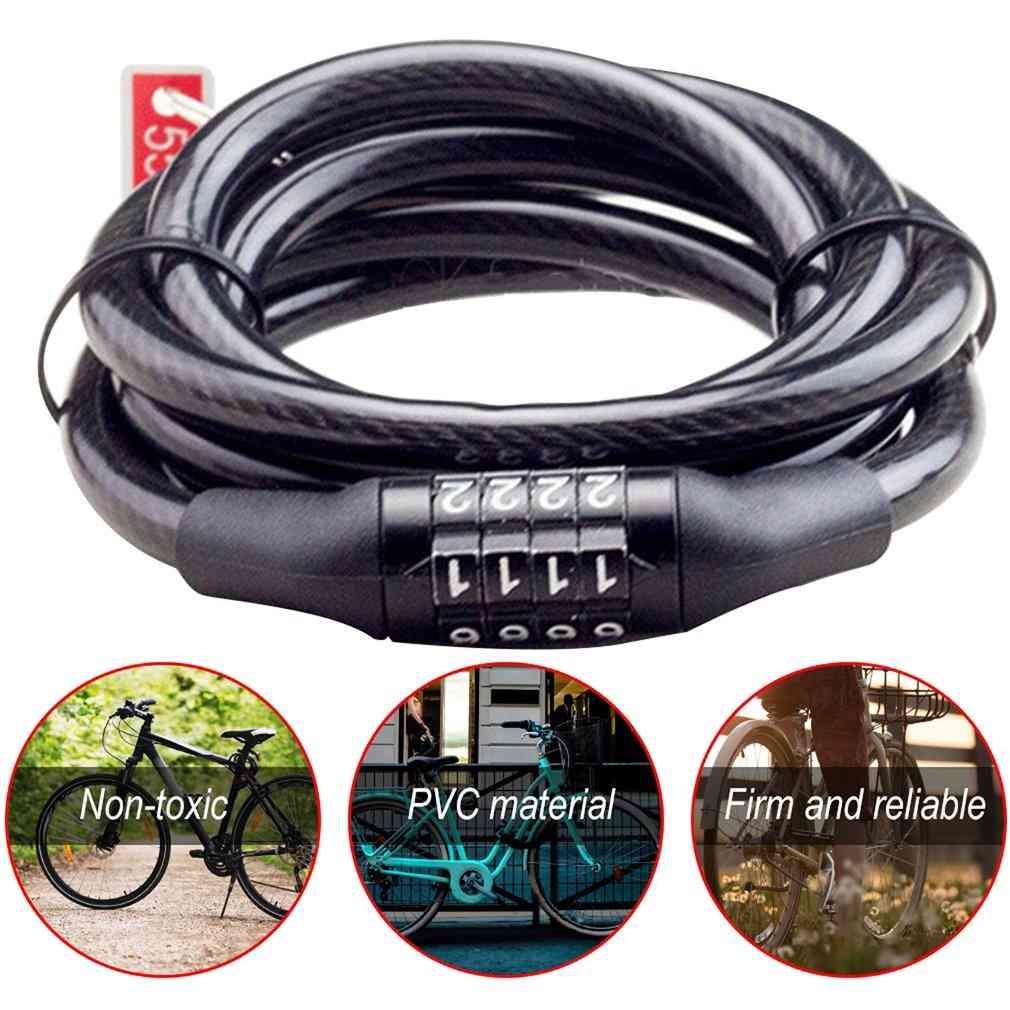 Bike Cycling Password Combination Security Steel Wire Locks