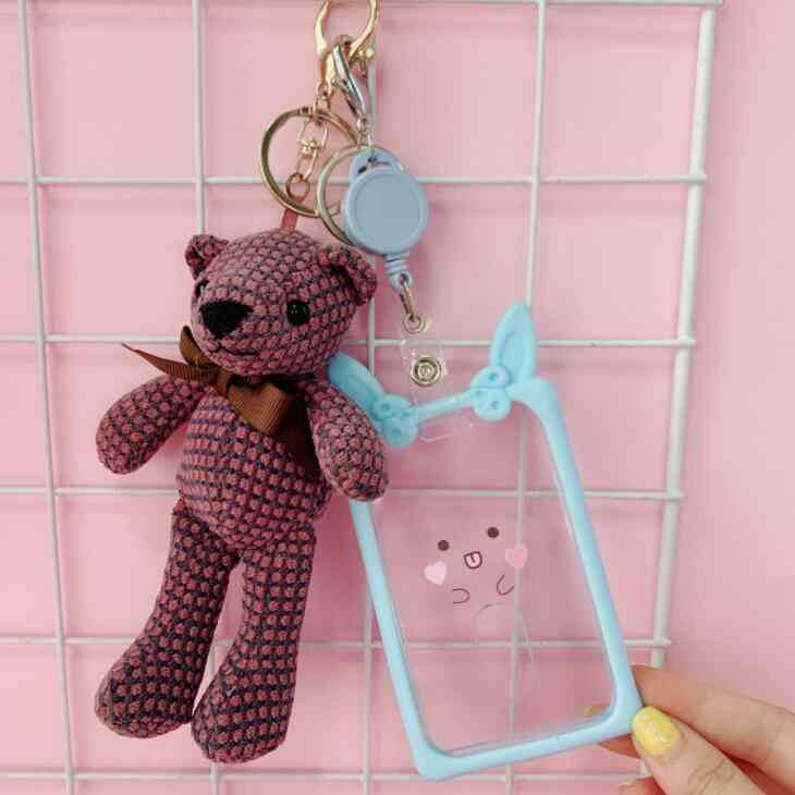 Cat Animal, Cartoon Id Card, Case Holder, Bus Cards Cover, Protector Keychain