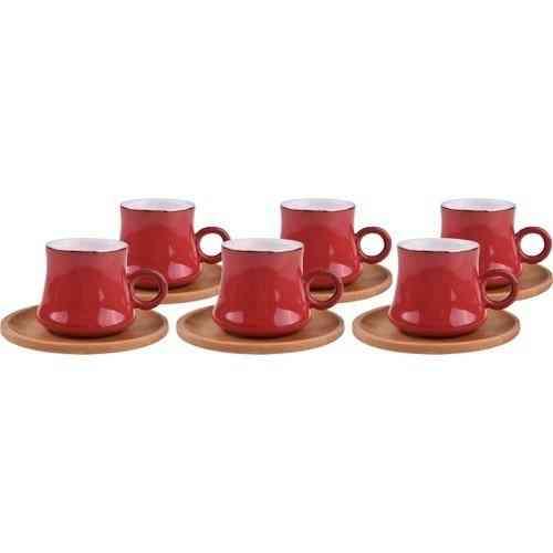 Traditional Bamboo, Turkish Coffee, Cup Set