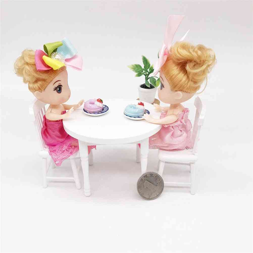 Wooden Furniture Miniature Dining Table And Chair - Decoration Ornaments