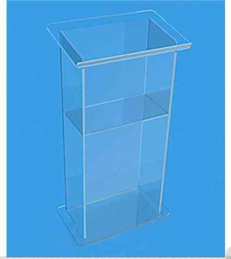 Clear Acrylic Podium Lectern - Decoration Table Plexiglass