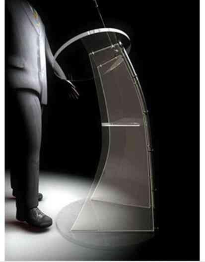 Floor Standing, Acrylic Speech Lectern, Modern Design, Podium Pulpit
