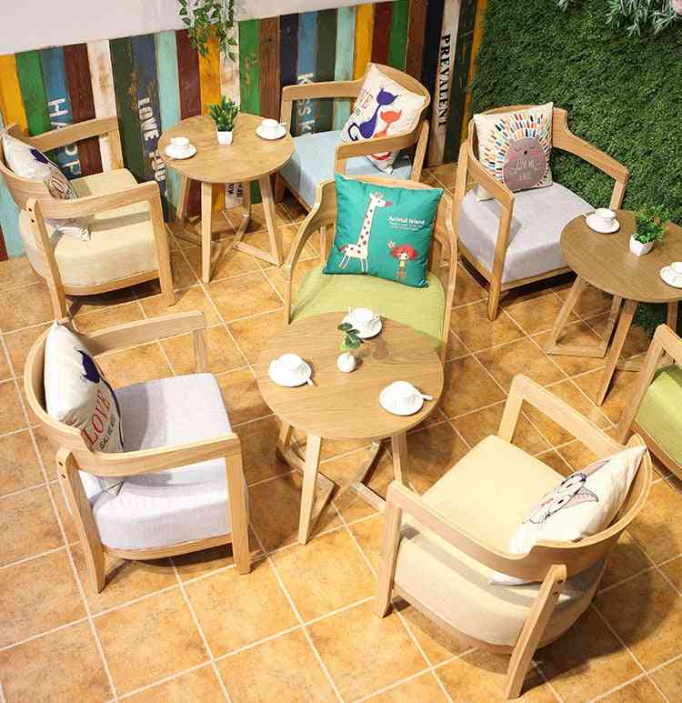 Dessert Milk Tea Shop Coffee Shop Negotiation Table And Chair