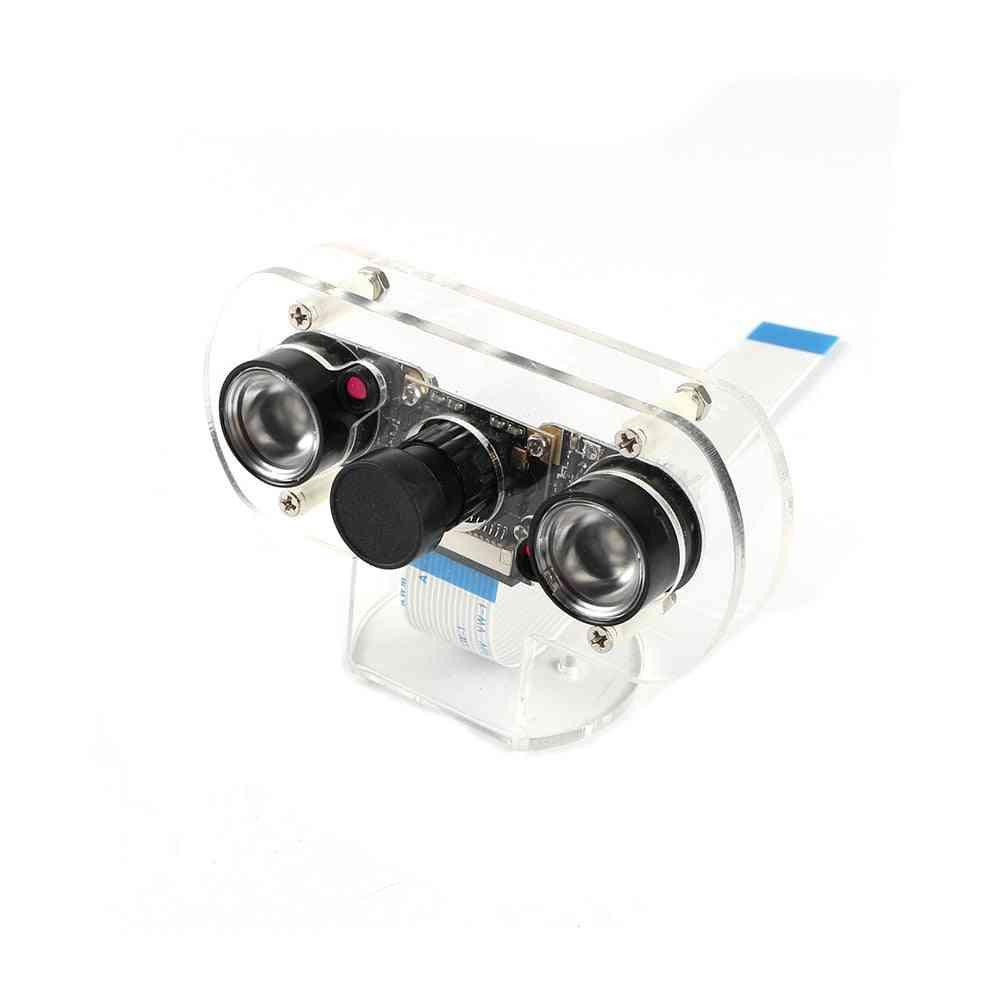 Pi 4 Night Vision Fisheye Camera, 5mp Ov5647, 130-degree Focal Adjustable