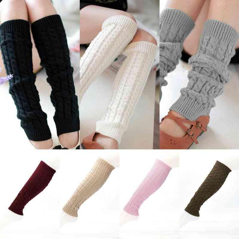Women Warm Knee High Winter Knit Crochet, Leg Warmers