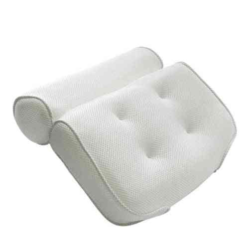 Non-slip Bath Tub Spa, Pillow Head Rest, Pillow With Suction Cups (white)