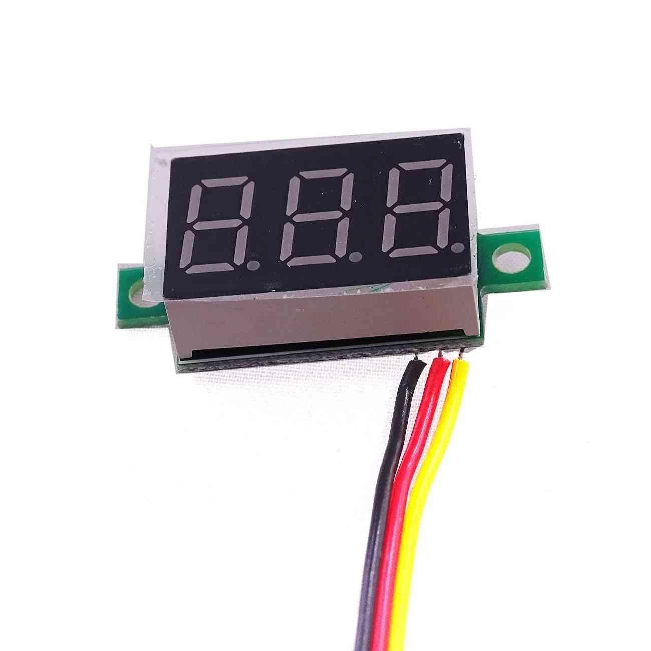 3-bits Digital Led Display, Panel Voltage, Meter Tester