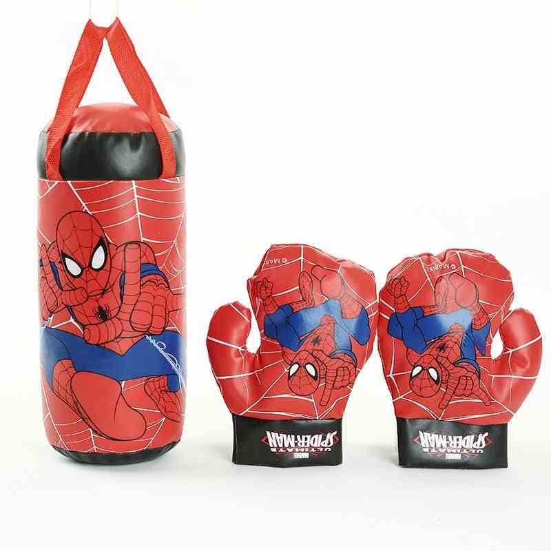 Outdoor Sports Boxing-superhero Gloves And Sandbag Set