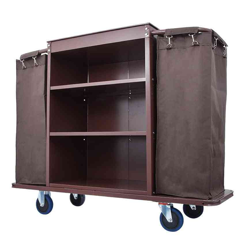 Multifunctional Stainless Steel, Trolley With Bag For Hotel