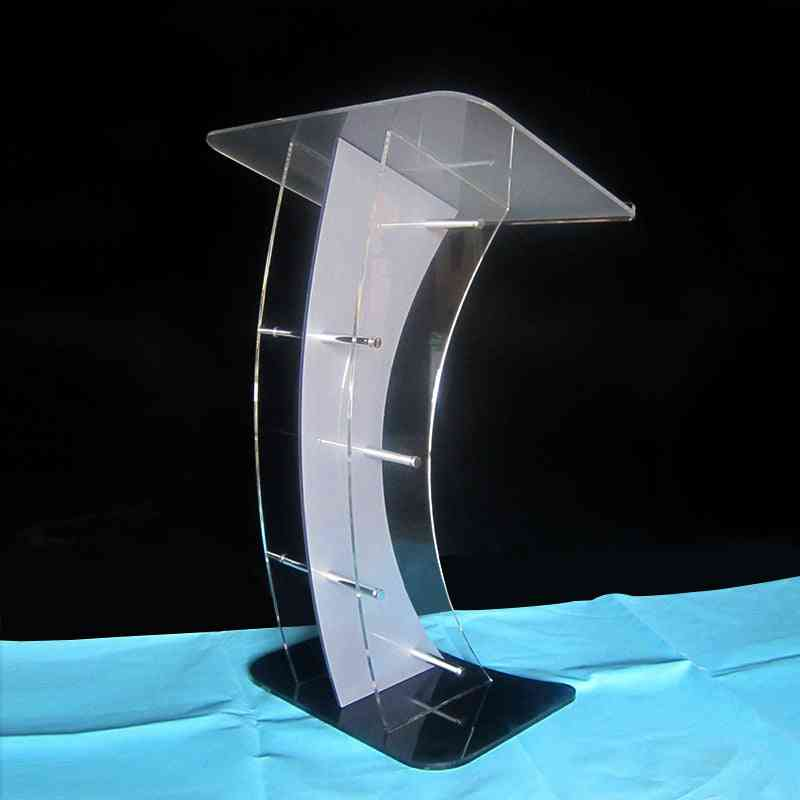 Acrylic Podium Victory Stand With Angled Reading Surface