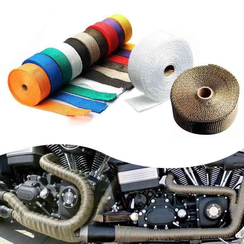 Exhaust Thermal Tape For Motorcycle Header Pipe