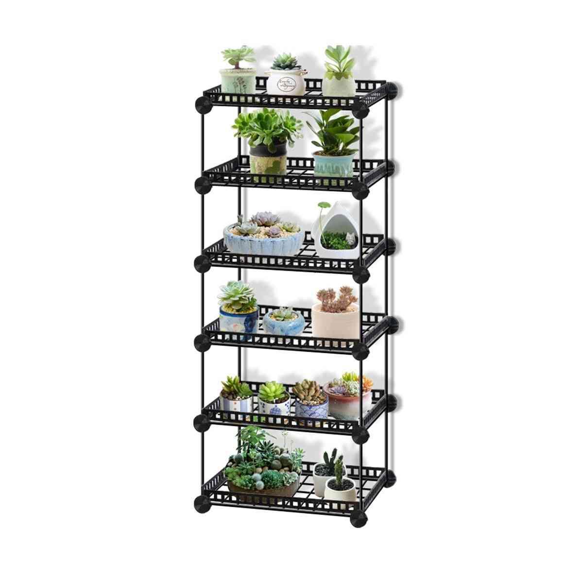 Durable Metal Plant Shelves Flower Pot Holder Garden Rack