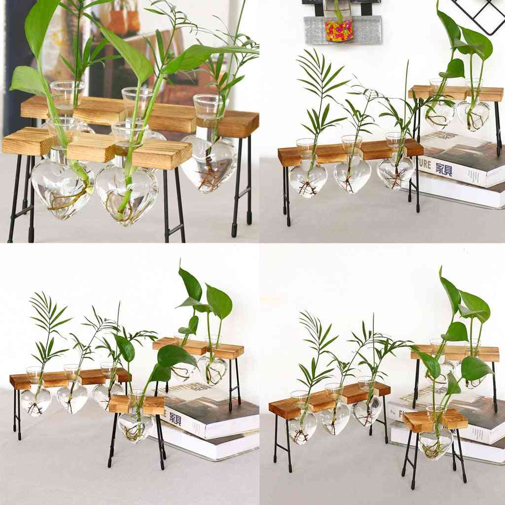 Terrarium Creative Hydroponic Plant Vase Wooden Frame Decoration