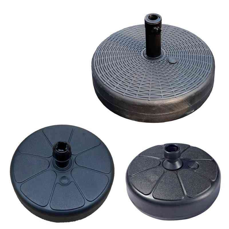 Plastic Round Shape Water Sand Fillable Umbrella Base Stand Holder