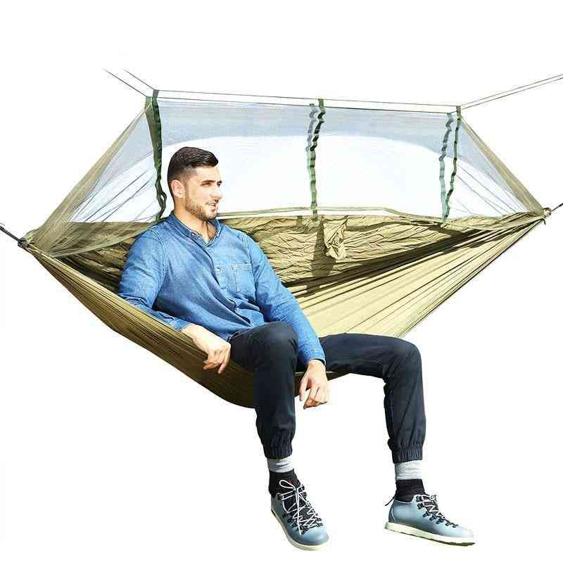 Outdoor Mosquito Net, Parachute Hammock, Hanging Sleeping, Swing With Double Chair