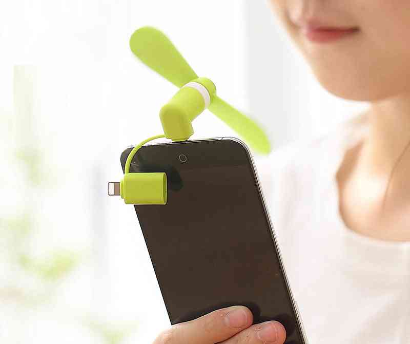 Portable Mini Mobile Fan, Soft Cooling Smartphone Summer Tool