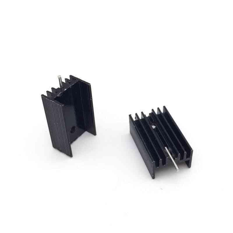 Aluminium To-220 Heatsink, Transistor Radiator With 1 Pin