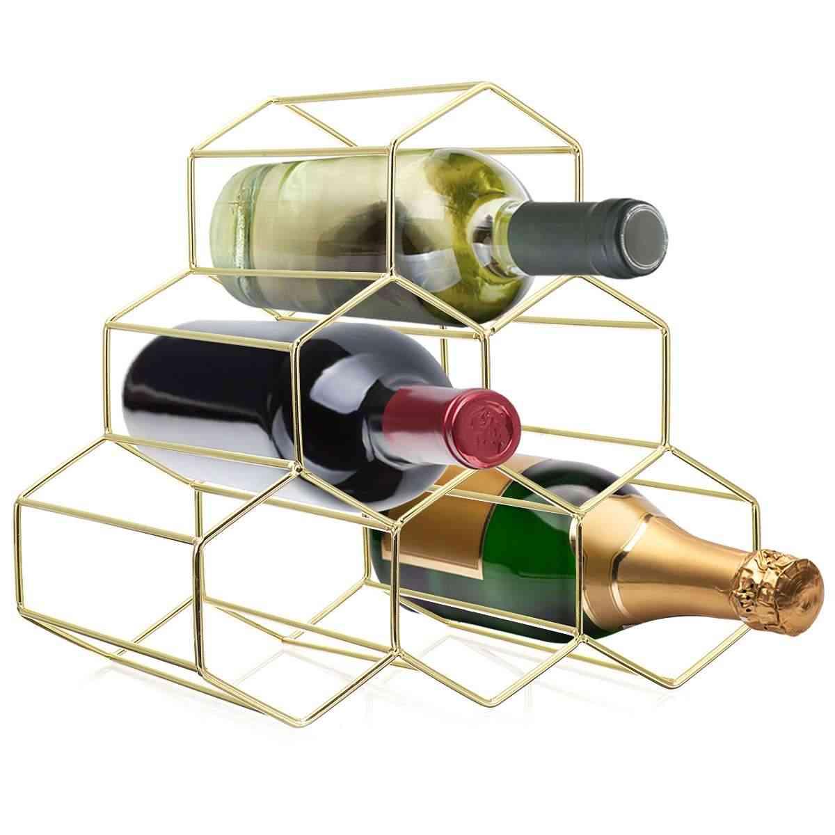 Nordic Style Metal Wine Rack