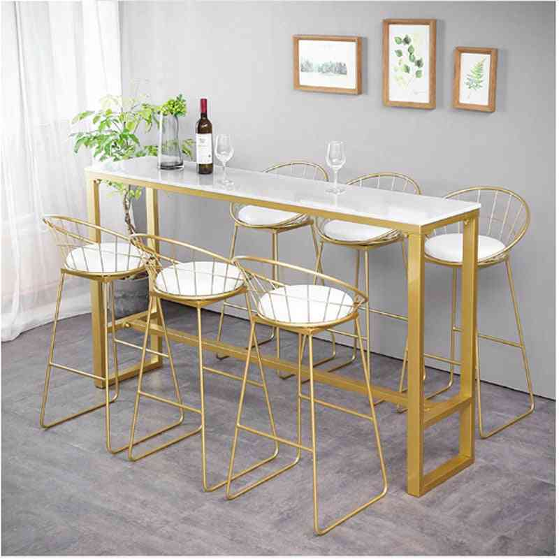 Furniture Nordic, Modern Simplicity High Marble Bar Table