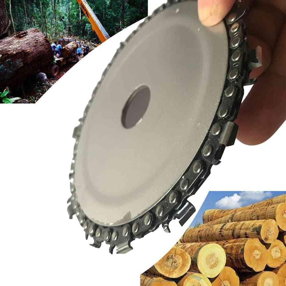 Wood Carving Disc Grinder Chain Saw
