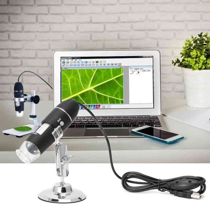 8-led, Usb Digital Camera, Endoscope Microscope Magnifier With Metal Stand