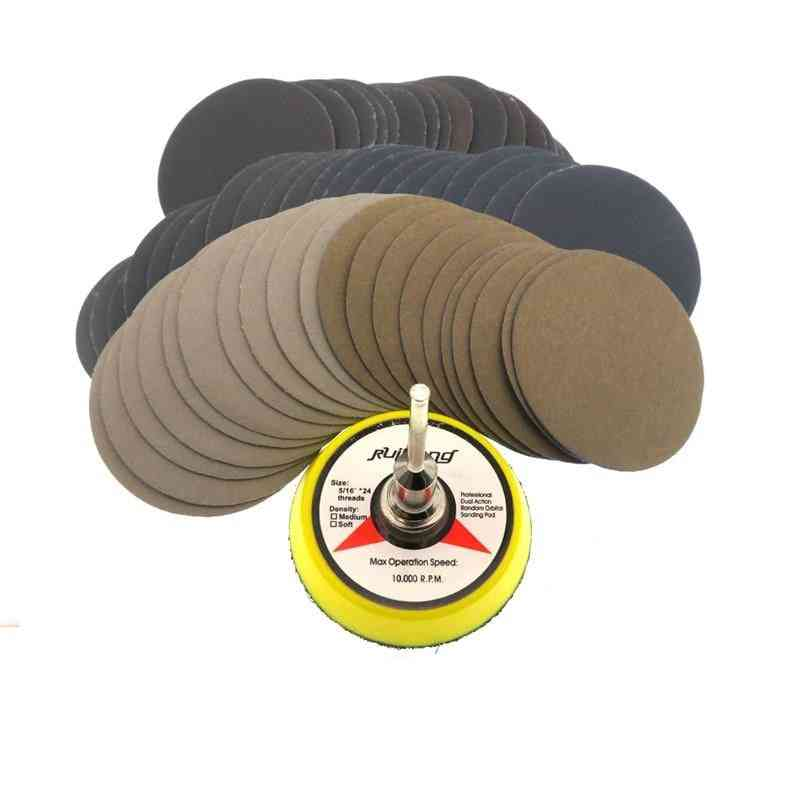 Wet Dry Sandpaper Assortment Grit Disc  With Hook And Loop Sanding Pad For Wood