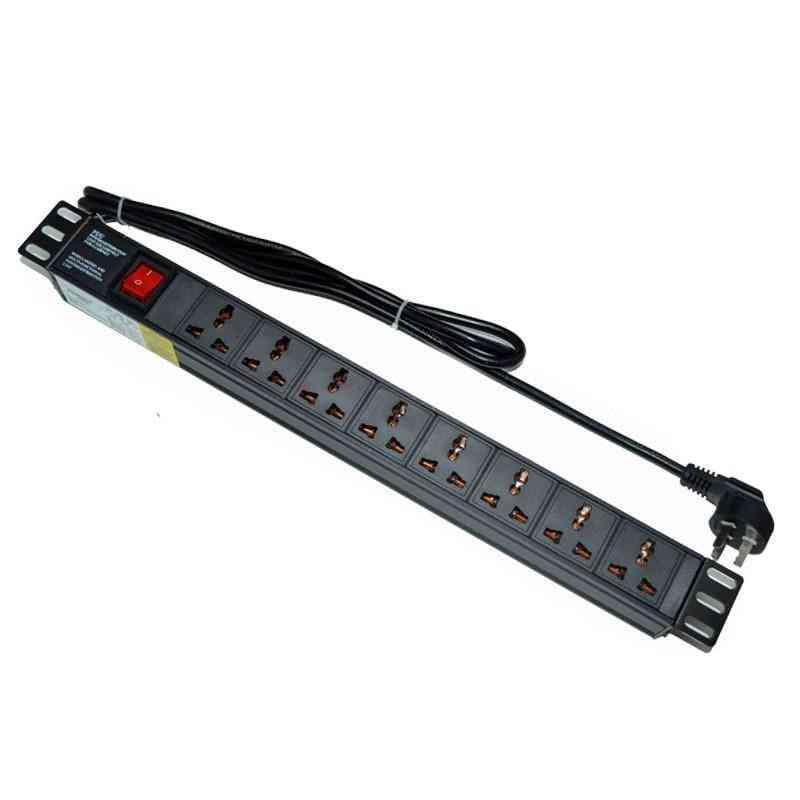 Universal Socket Double Break Switch, Pdu Network Cabinet Rack Power Strip
