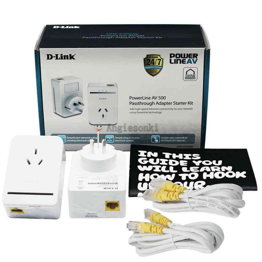 D-link, Dhp-p309av Powerline Passthrough, Adapter Network, Starter Kit